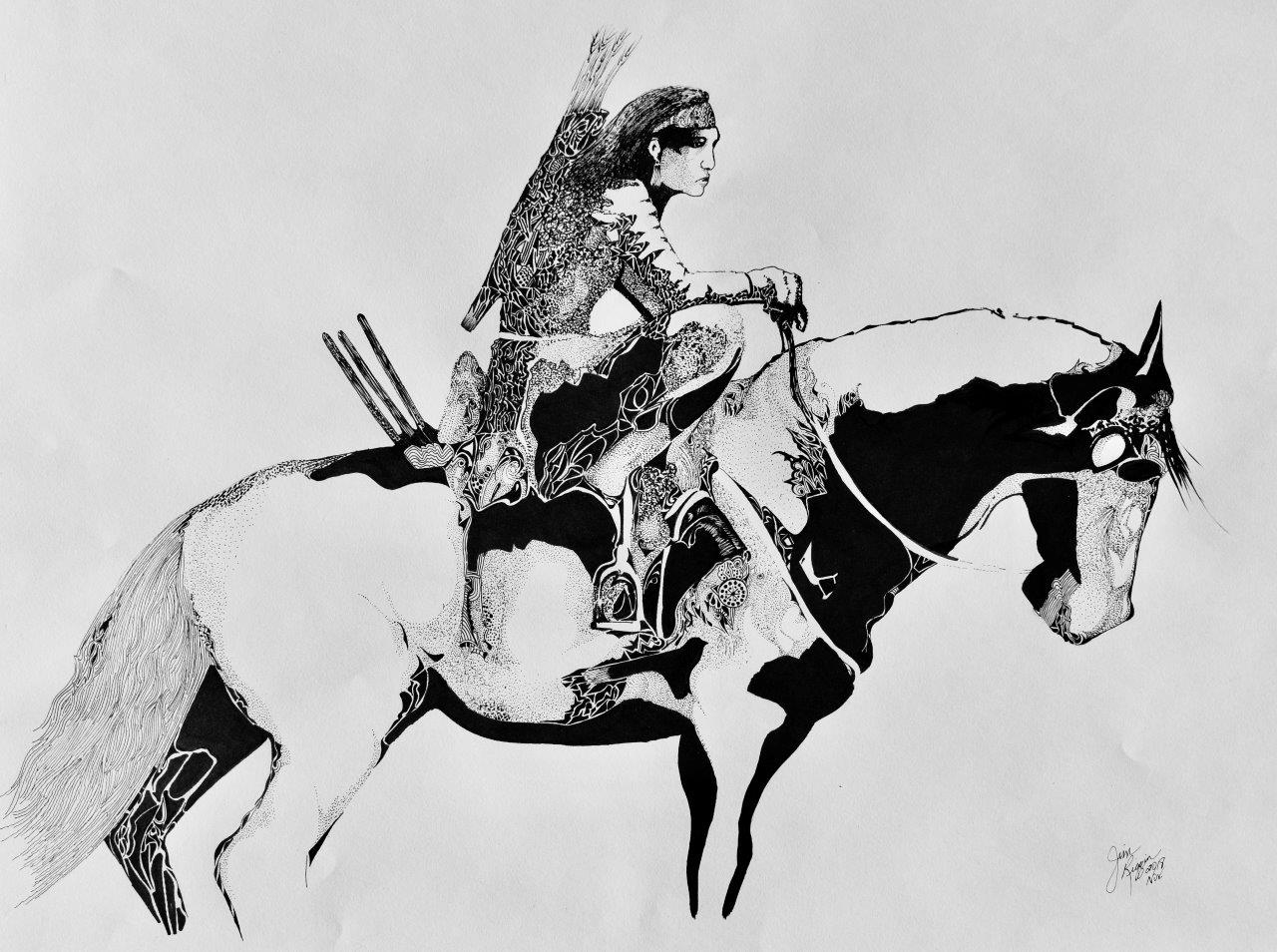 native american on horse