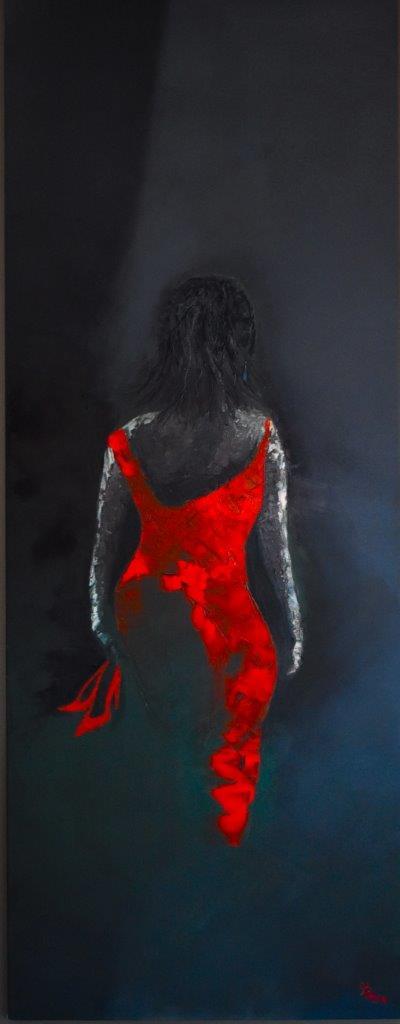 red dress lady